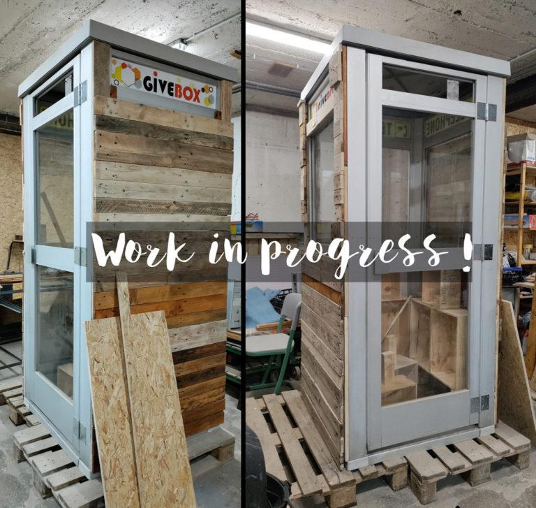 cabine téléphone givebox transformation